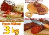 Nduja, Salsiccia, Soppressata, Salumi Artigianali  3 Kg Offerta