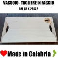 Vassoio Tagliere in Faggio Calabrese cm 45x 25 Con 2 Manici